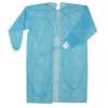 ISOLATION GOWN WITH WHITE CLOTH CUFF 30GSM PP